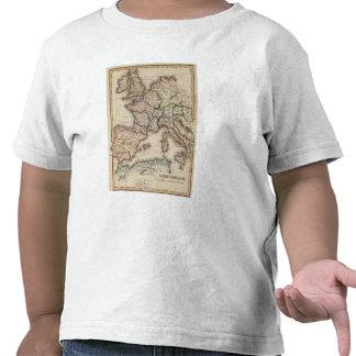 Mapa del atlas de Europa Camisetas
