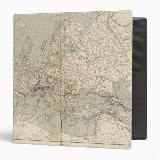 Mapa del atlas de Europa que muestra los ferrocarr