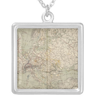 Mapa del atlas de Europa que muestra los ferrocarr Collar