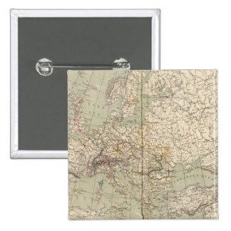 Mapa del atlas de Europa que muestra los ferrocarr Pins