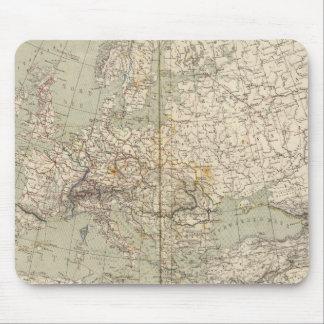 Mapa del atlas de Europa que muestra los ferrocarr Alfombrilla De Ratones