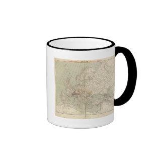 Mapa del atlas de Europa que muestra los ferrocarr Tazas De Café