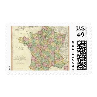 Mapa del atlas de Francia con los obispos Sello