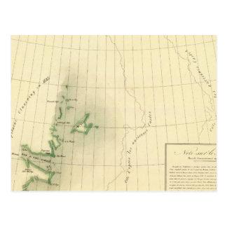 Mapa del atlas de Groenlandia Tarjetas Postales