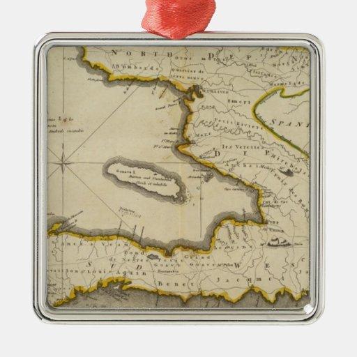 Mapa del atlas de Haití Ornamento Para Arbol De Navidad