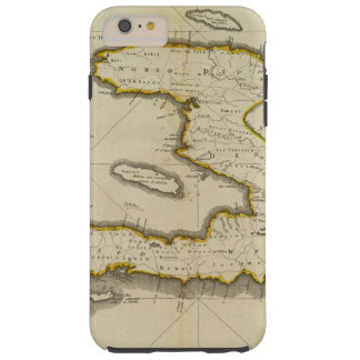 Mapa del atlas de Haití Funda Para iPhone 6 Plus Tough