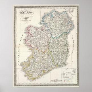 Mapa del atlas de Irlanda Impresiones