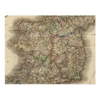 Mapa del atlas de Irlanda Postal