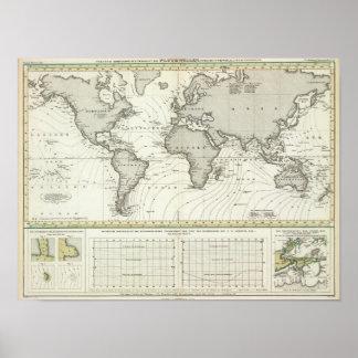 mapa del atlas de la Marea-onda Posters