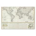 mapa del atlas de la Marea-onda Papel De Seda