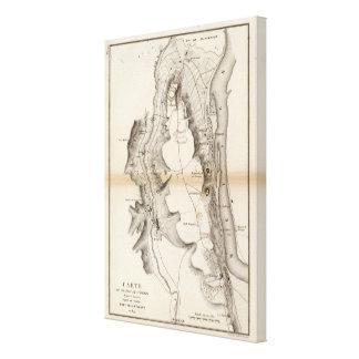 Mapa del atlas de la meseta de St Pierre Impresiones En Lona