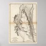 Mapa del atlas de la meseta de St Pierre Posters