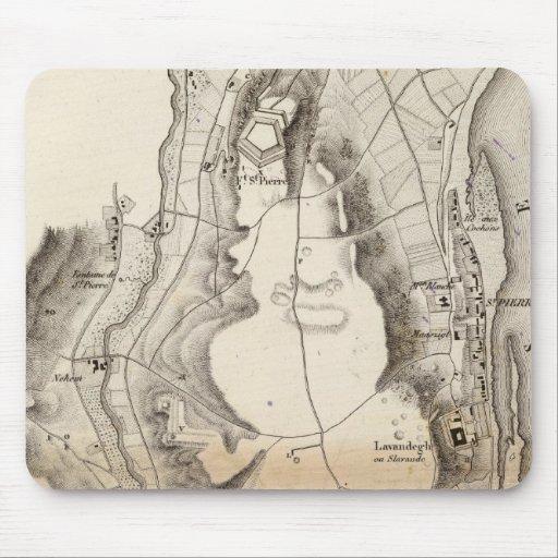 Mapa del atlas de la meseta de St Pierre Tapetes De Raton
