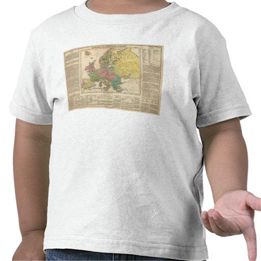 Mapa del atlas de la religión de Europa Camisetas