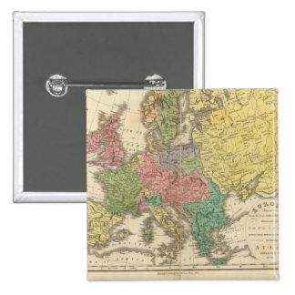 Mapa del atlas de la religión de Europa Pin Cuadrado