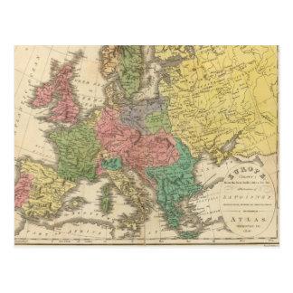 Mapa del atlas de la religión de Europa Postal