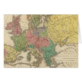 Mapa del atlas de la religión de Europa Tarjeta De Felicitación