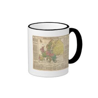 Mapa del atlas de la religión de Europa Taza De Dos Colores