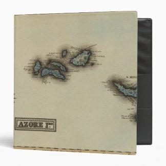 "Mapa del atlas de las islas de Azore Carpeta 1 1/2"""