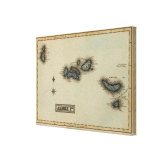 Mapa del atlas de las islas de Azore Lona Estirada Galerias