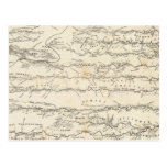 Mapa del atlas de los ríos tarjeta postal