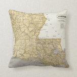 Mapa del atlas de Luisiana Cojín Decorativo