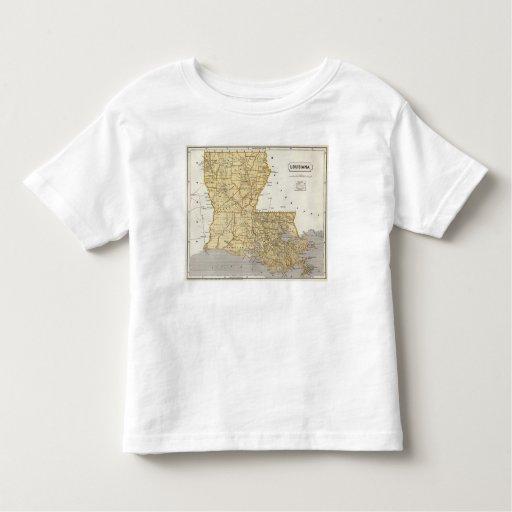 Mapa del atlas de Luisiana Playera De Bebé