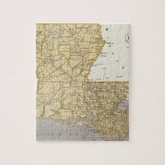 Mapa del atlas de Luisiana Puzzle