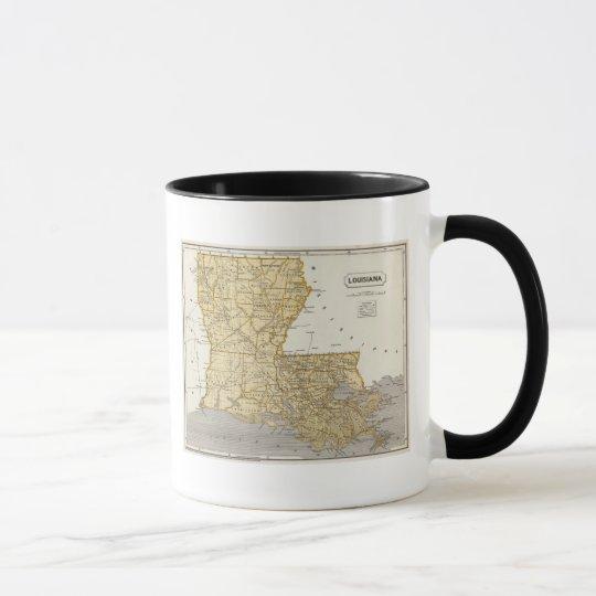 Mapa del atlas de Luisiana Taza