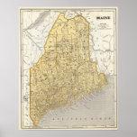 Mapa del atlas de Maine Impresiones