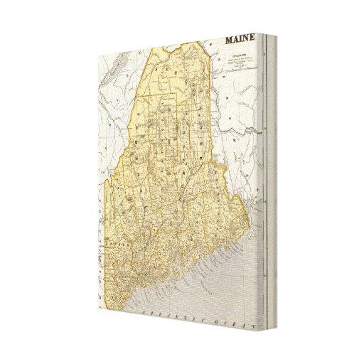 Mapa del atlas de Maine Impresiones En Lona