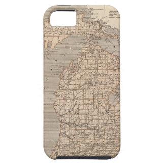 Mapa del atlas de Michigan Funda Para iPhone SE/5/5s
