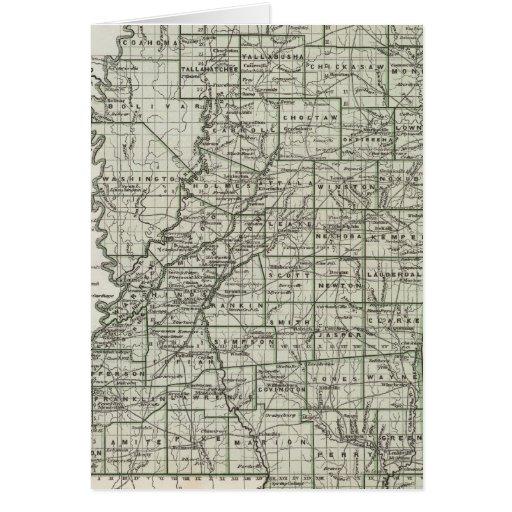 Mapa del atlas de Mississippi Tarjeta De Felicitación