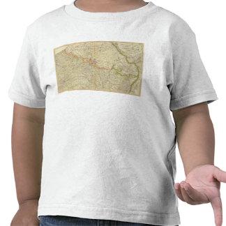 Mapa del atlas de N Francia Camisetas