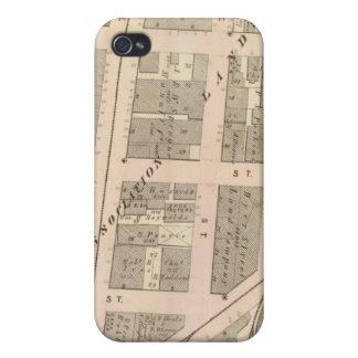 Mapa del atlas de Narragansett Hotel Company de ad iPhone 4 Carcasas