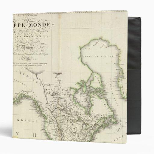 Mapa del atlas de Norteamérica