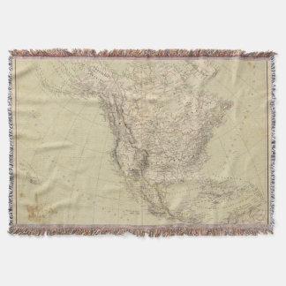 Mapa del atlas de Norteamérica que muestra las