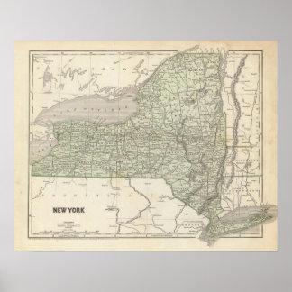 Mapa del atlas de Nueva York Impresiones