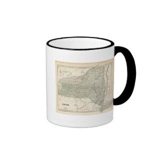 Mapa del atlas de Nueva York Tazas De Café