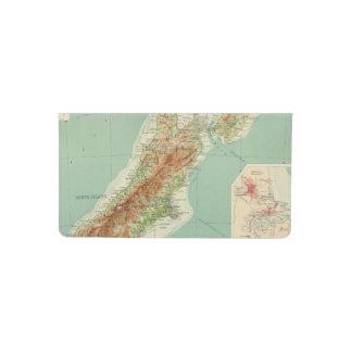 Mapa del atlas de Nueva Zelanda