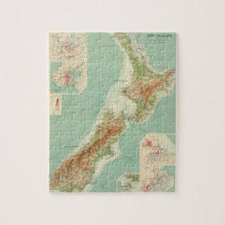 Mapa del atlas de Nueva Zelanda Puzzle