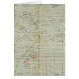 Mapa del atlas de Oceanía Felicitación