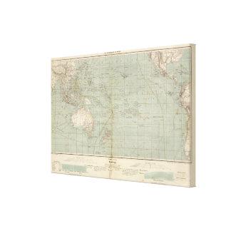 Mapa del atlas de Oceanía Impresiones De Lienzo