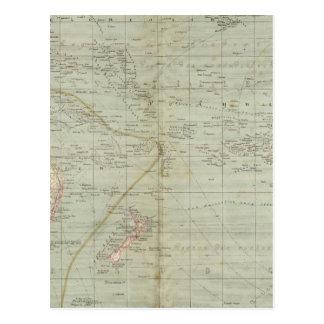 Mapa del atlas de Oceanía Postal
