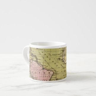 Mapa del atlas de Océano Atlántico Taza Espresso