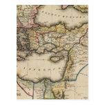 Mapa del atlas de Oriente Medio Postal