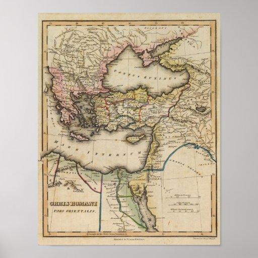 Mapa del atlas de Oriente Medio Poster