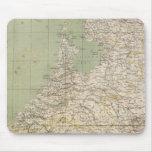 Mapa del atlas de Países Bajos y de Bélgica Alfombrillas De Raton