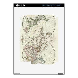 Mapa del atlas de París iPad 3 Skins
