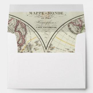 Mapa del atlas de París Sobre